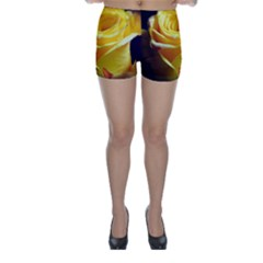 Soft Yellow Rose Skinny Shorts by bloomingvinedesign