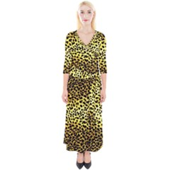 Leopard Version 2 Quarter Sleeve Wrap Maxi Dress by dressshop