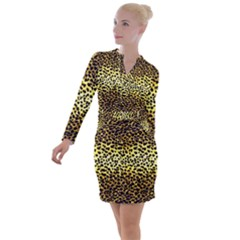 Leopard Version 2 Button Long Sleeve Dress by dressshop