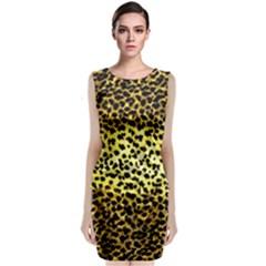 Leopard Version 2 Sleeveless Velvet Midi Dress by dressshop