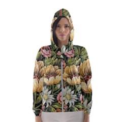 Retro Vintage Floral Hooded Windbreaker (women) by dressshop