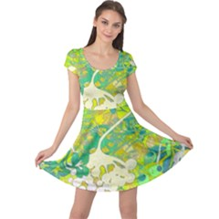 Floral 1 Abstract Cap Sleeve Dress by dressshop