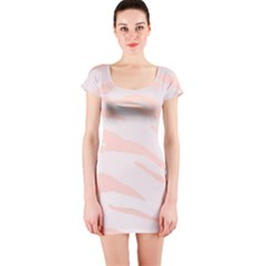 Pastel Zebra Print Short Sleeve Bodycon Dress by chihuahuadresses