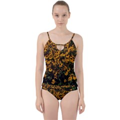 Field Of Yellow Flowers Cut Out Top Tankini Set by bloomingvinedesign