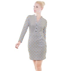 Plaid 2  Button Long Sleeve Dress by dressshop