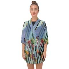Chaos In Colour  Half Sleeve Chiffon Kimono by ArtByAng