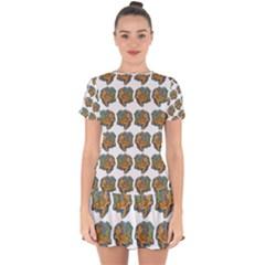 Tommyturt Drop Hem Mini Chiffon Dress