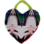 Designed By Revolution Child  Forever Punk  Giant Heart Shaped Tote