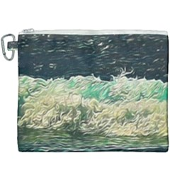 Ocean Wave Close To Shore Canvas Cosmetic Bag (xxxl) by bloomingvinedesign