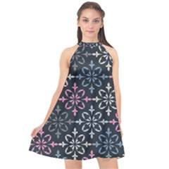 Background Wallpaper Abstract Art Halter Neckline Chiffon Dress  by Nexatart
