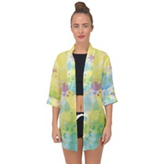 Abstract Pattern Color Art Texture Open Front Chiffon Kimono by Nexatart