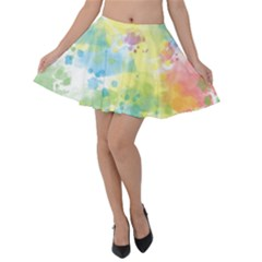 Abstract Pattern Color Art Texture Velvet Skater Skirt by Nexatart