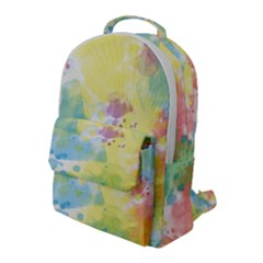 Abstract Pattern Color Art Texture Flap Pocket Backpack (large) by Nexatart