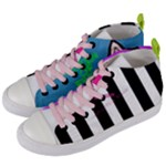 Designed By Revolution Child  Black & White  Women s Mid-Top Canvas Sneakers