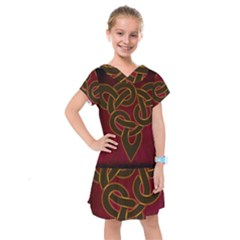 Beautiful Art Pattern Kids  Drop Waist Dress by Nexatart