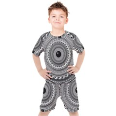 Graphic Design Round Geometric Kid s Set by Nexatart