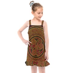 Beautiful Art Pattern Kids  Overall Dress by Nexatart