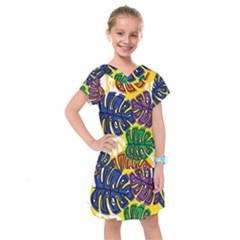 Design Decoration Decor Pattern Kids  Drop Waist Dress by Nexatart