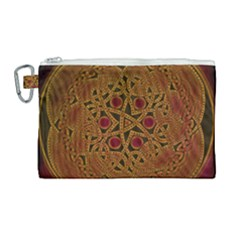 Beautiful Art Pattern Canvas Cosmetic Bag (large) by Nexatart