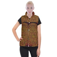 Beautiful Art Pattern Women s Button Up Vest by Nexatart