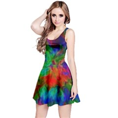 Color Art Bright Decoration Reversible Sleeveless Dress