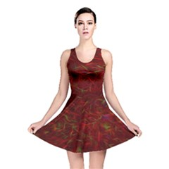 Abstract Pattern Color Shape Reversible Skater Dress