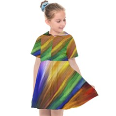 Graffiti Painting Pattern Abstract Kids  Sailor Dress by Nexatart