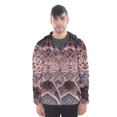 Pattern Decoration Art Architecture Hooded Windbreaker (men) by Nexatart