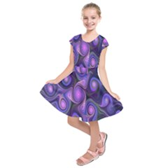 Abstract Pattern Fractal Wallpaper Kids  Short Sleeve Dress by Nexatart