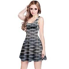 Desktop Pattern Abstract Fabric Reversible Sleeveless Dress