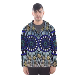 Pattern Art Form Architecture Hooded Windbreaker (men) by Nexatart
