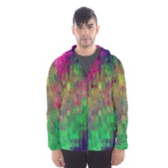 Background Abstract Art Color Hooded Windbreaker (men) by Nexatart