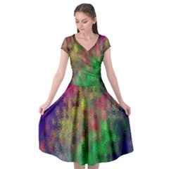 Background Abstract Art Color Cap Sleeve Wrap Front Dress by Nexatart