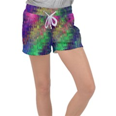 Background Abstract Art Color Women s Velour Lounge Shorts