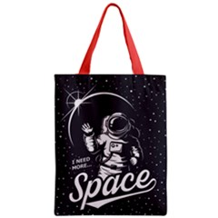 Universe Space Astronaut Zipper Classic Tote Bag by walala