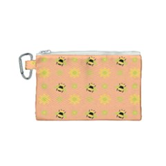 Bee A Bug Nature Canvas Cosmetic Bag (small)