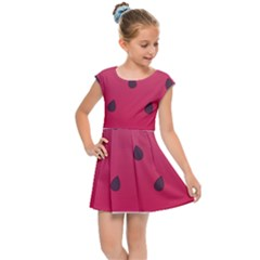 Watermelon Fruit Summer Red Fresh Kids Cap Sleeve Dress by Nexatart