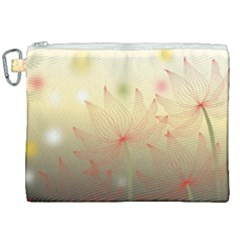 Flower Summer S Nature Plant Canvas Cosmetic Bag (xxl) by Nexatart
