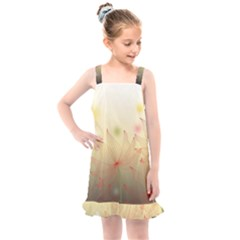 Flower Summer S Nature Plant Kids  Overall Dress by Nexatart