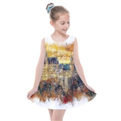 Architecture Castle Fairy Castle Kids  Summer Dress by Nexatart