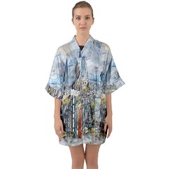 Altstadt Hattingen Ruhr Trail Quarter Sleeve Kimono Robe by Nexatart