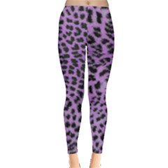Purple Leopard Print Leggings  by greenthanet