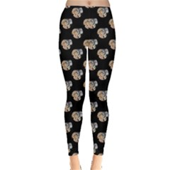 Ammonite Fossil Leggings  by greenthanet