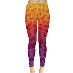 Rainbow Leopard Print Leggings  by greenthanet