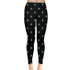Zebra Polka Dots Leggings  by greenthanet