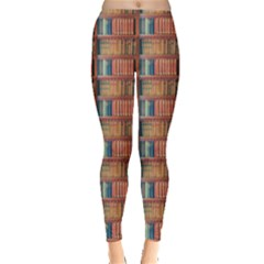 Antique Books Leggings  by greenthanet