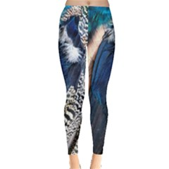 Peacock Feathers Leggings  by greenthanet