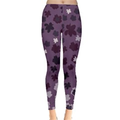 Sixties Floral Leggings  by greenthanet