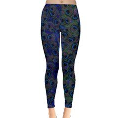 Blue Peacock Leggings  by greenthanet