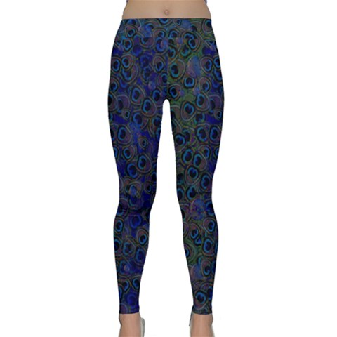 Blue Peacock Classic Yoga Leggings